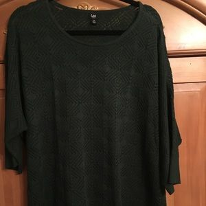 Very cute hunter green sweater. Worn once.